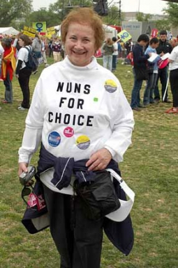 Sister Donna Quinn, OP, active member of Catholics for Choice.