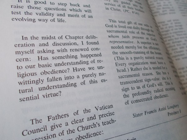 Sister Francis Assisi Loughery writes in the October 1972 edition of the Sinsinawa Dominicans' ExCHANGE magazine.