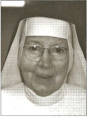 Sister Francis Assisi Loughery, probably around age 80, from her official obituary sent by the Sinsinawa Mound archivist. Probably published in Sinsinawa's newsletter Spectrum.