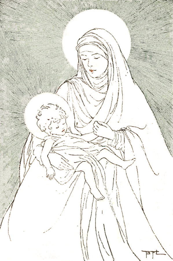 rosarycoloring300 maryjesus color - Father Coloring Page Catholic