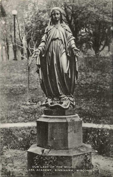 "Old postcard from Sinsinawa: ""Our Lady of the Mound"""