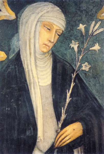 Saint Catherine of Siena, in the Basilica of San Domenico in Siena, by Andrea di Vanni, one of her disciples