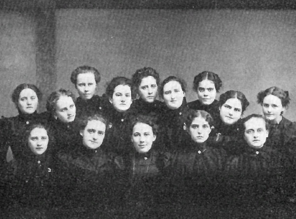 The 1899 editorial staff of the Young Eagle magazine.